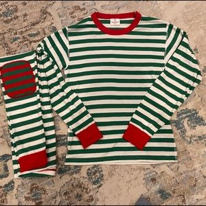 Hanna Andersson Green Stripe Pajama Set